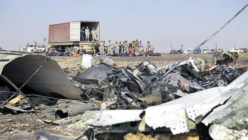 حطام الطائرة الروسية المنكوبة «أ.ف.ب»