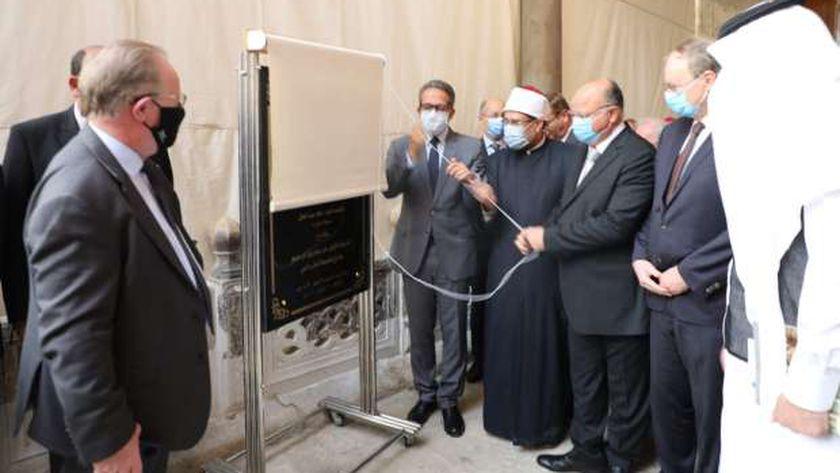 محافظ القاهرة يشهد حفل افتتاح جامع الطنبغا المارداني بعد ترميمه