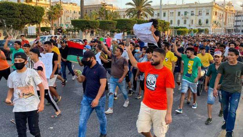 تظاهرات في العاصمة الليبية طرابلس
