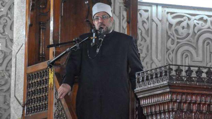 وزير الأوقاف يؤدي خطبة الجمعة في الإسكندرية
