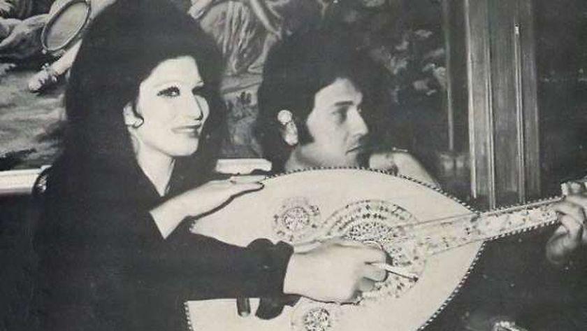 فايزة أحمد و زوجها الموسيقار محمد سلطان