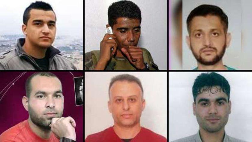 الأسرى الذين فروا من سجن جلبوع قبل القبض على 4 منهم