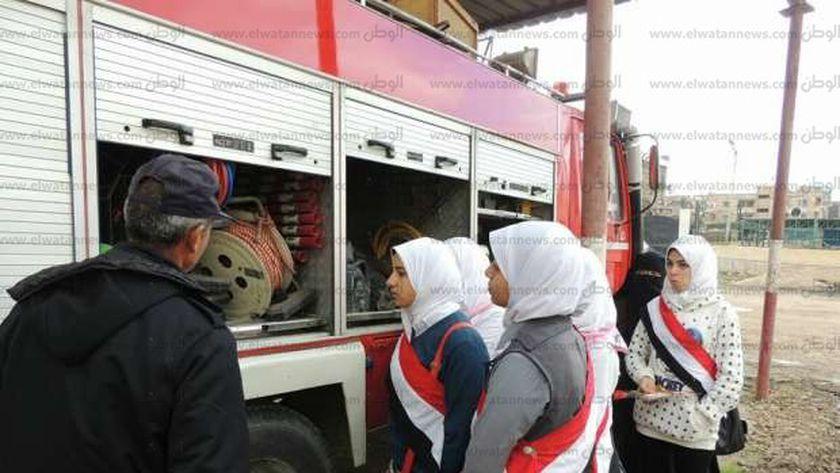تدريب طلاب كفر الشيخ على مكافحة الحرائق1