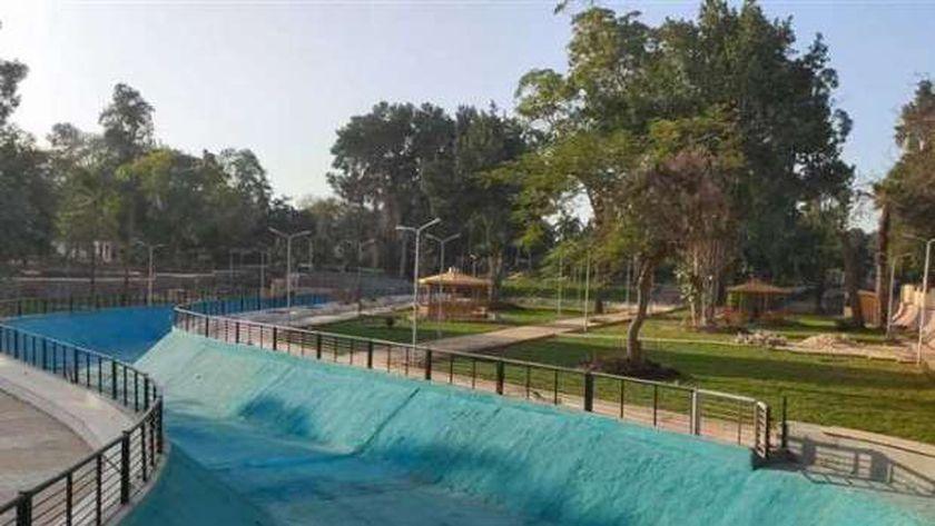 جانب من تطوير حدائق القناطر